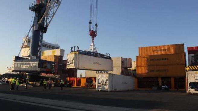 Carga de OPDR en el Puerto de Huelva.