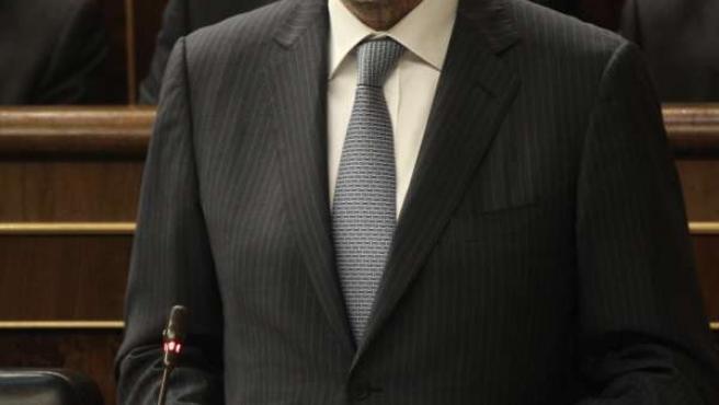 Presidente del Gobierno, Mariano Rajoy, en el Congreso