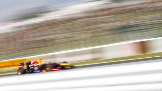 El piloto de Red Bull Mark Webber, durante la calificación del GP de Japón.