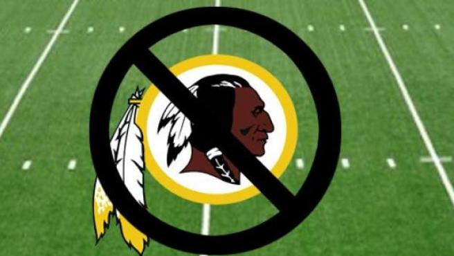 Logotipo de la campaña Change The Mascot, que pretende cambiar el nombre de los Washington Redskins de la NFL.