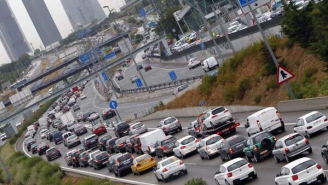 Entrada a Madrid por la Autovía de Burgos A-1.