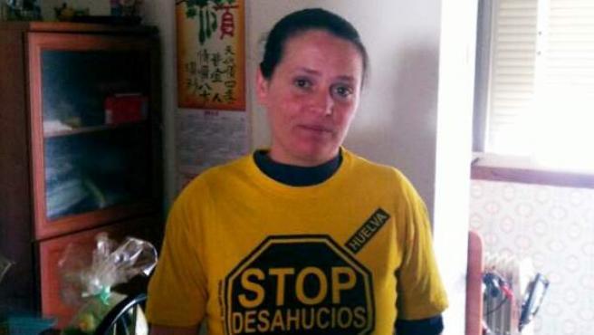 María del Carmen Andújar, la primera persona en acogerse a la expropiación del uso de la vivienda a una entidad bancaria.