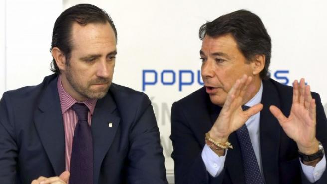 Los presidentes regionales de Madrid, Ignacio González (d), y Baleares, José Ramón Bauzá.