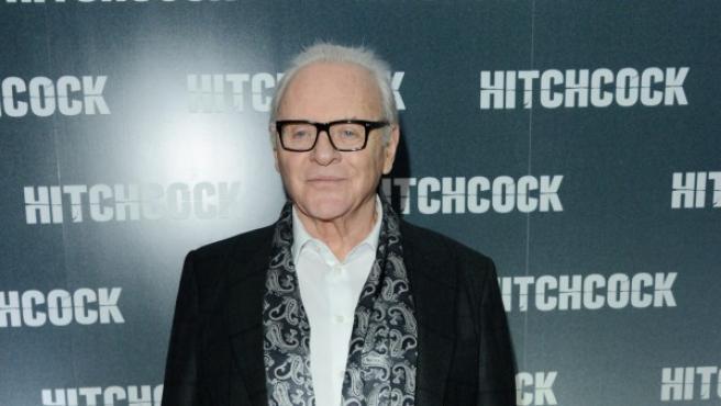 El actor Anthony Hopkins, en el estreno de la película 'Hitchcock'.