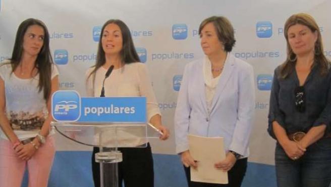 Las diputadas autonómicas del PP-A Martín, Soto, Corredera y Espinosa