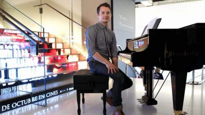 Elijah Wood, en Madrid, durante la promoción de la película 'Grand Piano'.