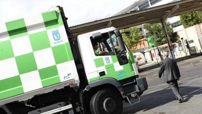 Un camión de la basura de Madrid.