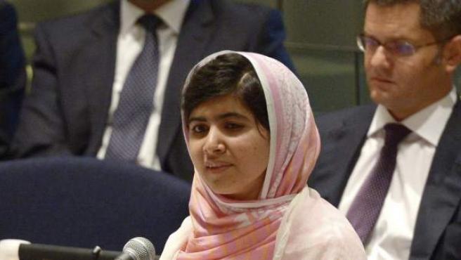 Malala Yousafzai, durante su intervención en la sede de la ONU.
