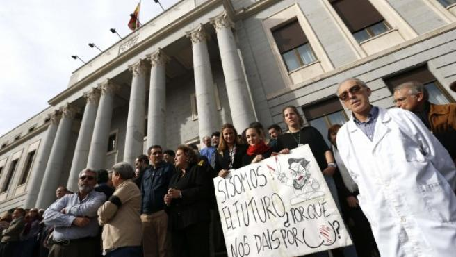 El colectivo 'Carta por la Ciencia', que reúne a sociedades y organizaciones científicas, sindicatos y representantes de las universidades, ha convocado hoy una jornada de luto por la ciencia en España.