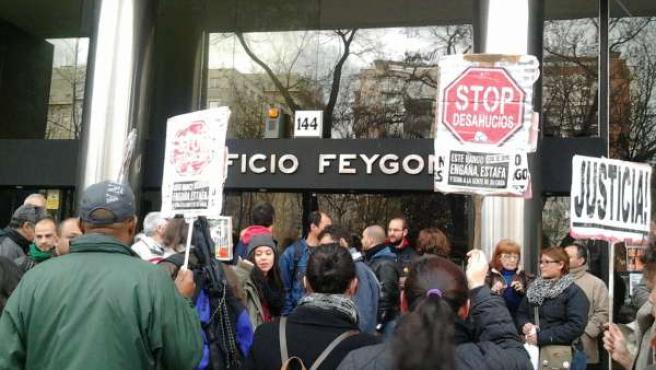Protesta desahucio Castellana