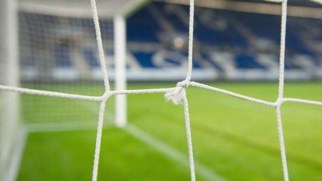 Una imagen de la red de una de las porterías del estadio del Hoffenheim, por donde entró un gol fantasma del delantero del Bayer Leverkusen, Stefan Kiessling, que fue concedido por el árbitro.