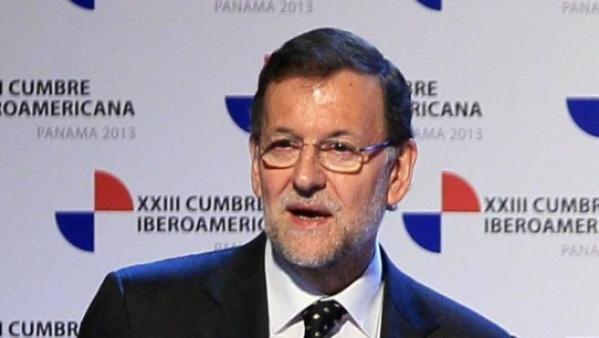 Mariano Rajoy en la Cumbre Iberoamericana de Panamá.