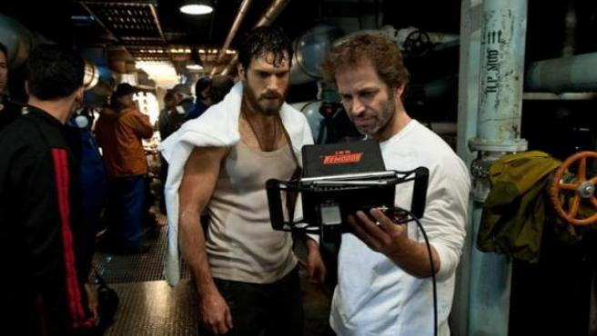 Una imagen del rodaje de 'Man of Steel'.
