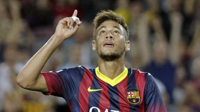 Neymar frente al Valladolid.