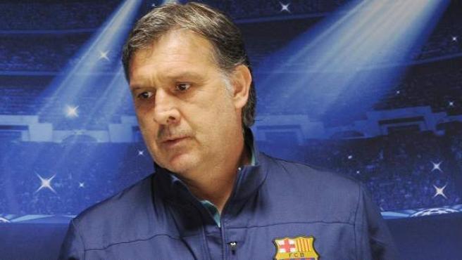 Tata Martino en rueda de prensa previa a la Champions.