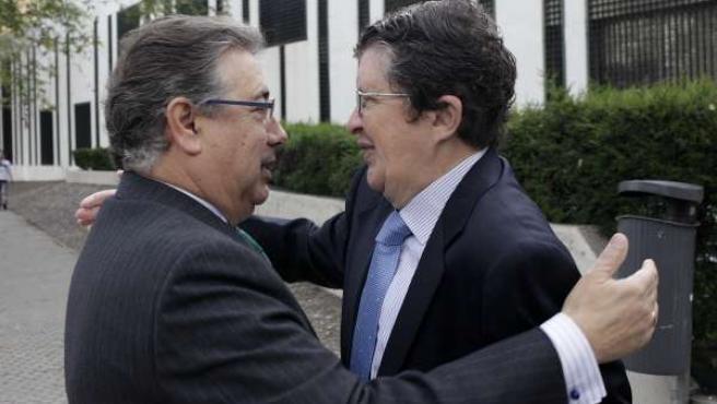 Zoido con el presidente del CESS.