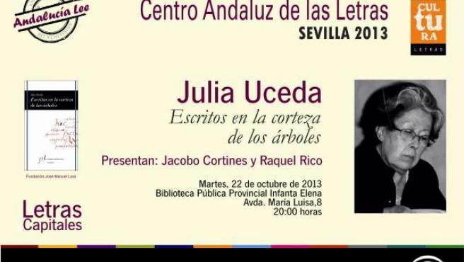 Julia Uceda presenta su nuevo libro de poesía