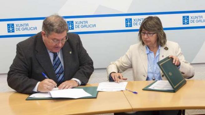 Firma del convenio entre la Xunta y el Consello Regulador da Pataca de Galicia