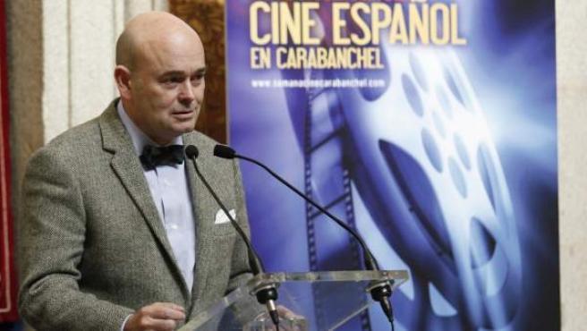 Fernando Villalonga, delegado de Las Artes del Ayuntamiento de Madrid, durante la presentación de un certamen de cine.
