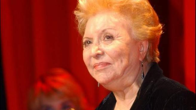 La actriz Amparo Soler Leal en una entrega de premios en 2003.