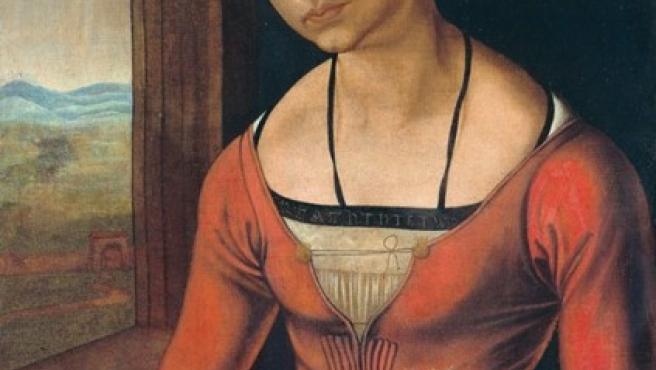 'Retrato de mujer joven con el pelo trenzado', óleo de Durero de 1497