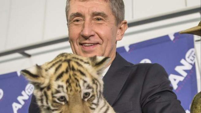 El millonario checo y líder del partido ANO 2011, Andrej Babis.
