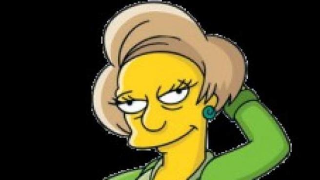 Edna Krabappel, profesora de Bart Simpson.