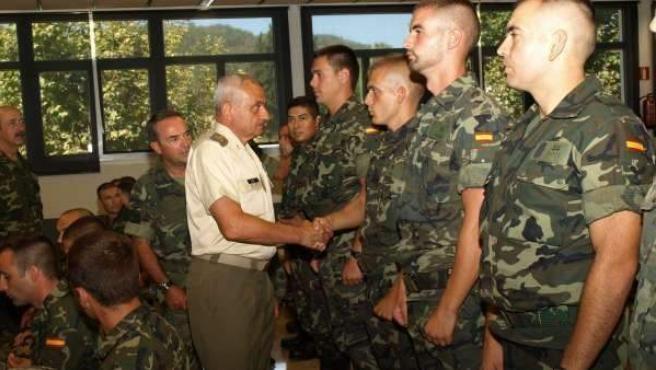 Imagen de archivo de militares del Ejército español.