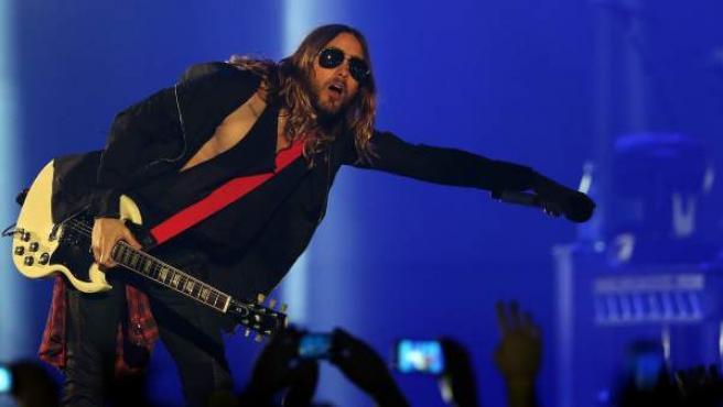 Jared Leto en un concierto de Thirty Seconds to Mars.