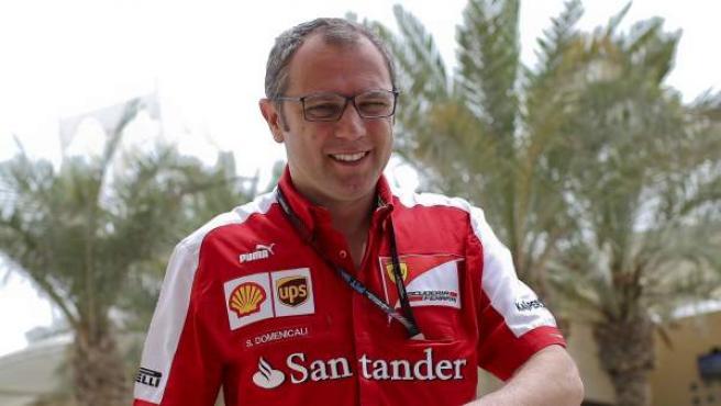 El jefe de Ferrari, Stefano Domenicali, en el G. P. de Bahrein.
