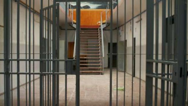 El interior de una cárcel.