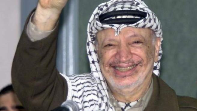 Una foto de archivo de Arafat, que falleció 11 de noviembre de 2004 a los 75 años.