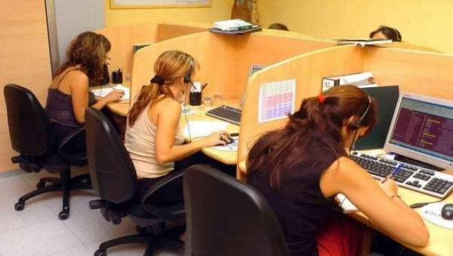 Trabajadoras de una empresa española.