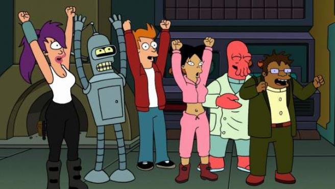 Los personajes de 'Futurama'.