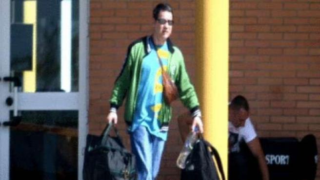 Antonio Troitiño, saliendo de la cárcel en una imagen de Archivo.