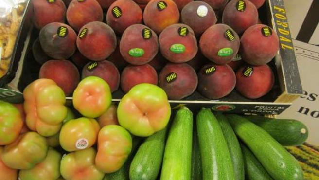 Tomates, pepinos y melocotones de productores catalanes
