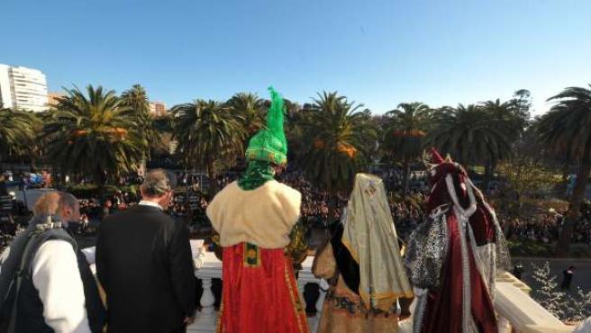Cabalgata de los Reyes Magos en Málaga de 2012