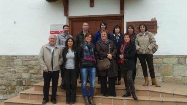 La delegación francesa durante su visita a la Fundación Ilundáin
