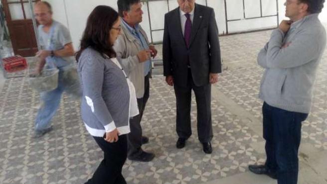 Visita de las obras de la Casa Dirección de Riotinto