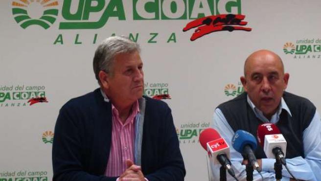 Julio López y Aurelio Pérez, de Alianza UPA-COAG