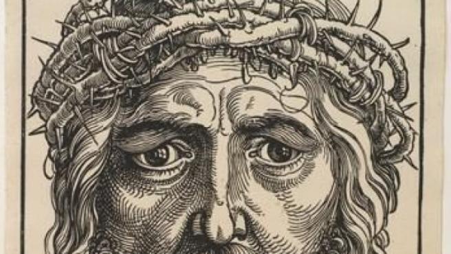Una xilografía de Jesús de Nazaret.