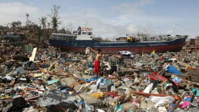 Efectos del tifón 'Yolanda' en Filipinas.