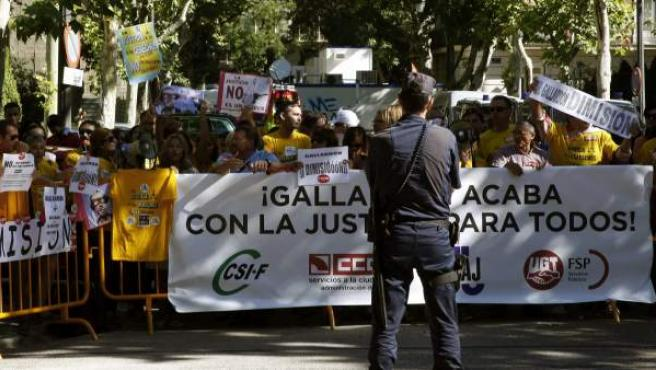 Funcionarios de Justicia protestan en la apertura del año judicial