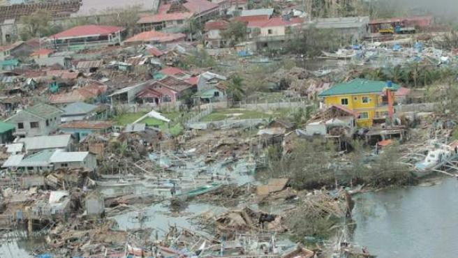 Imagen de los efectos del tifón 'Yolanda' a su paso por Cebu, en el norte de Filipinas.