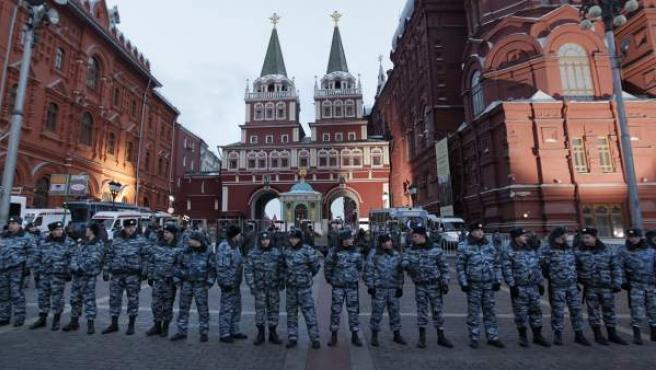 Imagen de archivo de la Plaza Roja en Moscú.