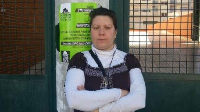 Tania Maroto, una de las inquilinas de una vivienda que el IVIMA vendió en agosto al fondo de inversión Goldman Sachs-Azora.