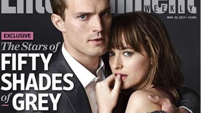 Jamie Dornan y Dakota Johnson, protagonistas en 'Cincuenta sombras de Grey', en portada de Entertainment Weekly.