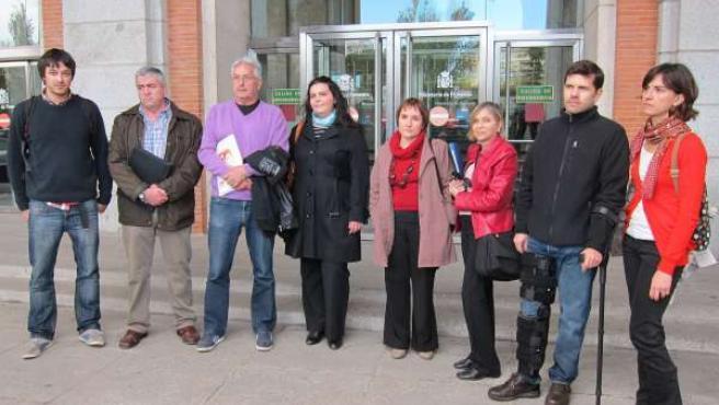 Víctimas del Accidente del Alvia se reunen con Ana Pastor