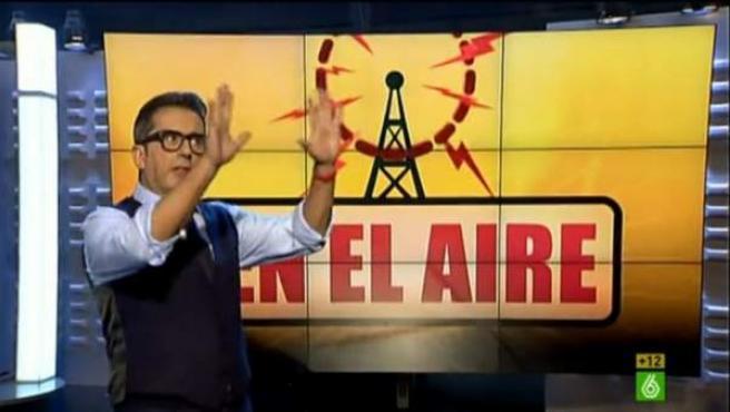 Buenafuente en 'En el aire', su programa de 'late night'.