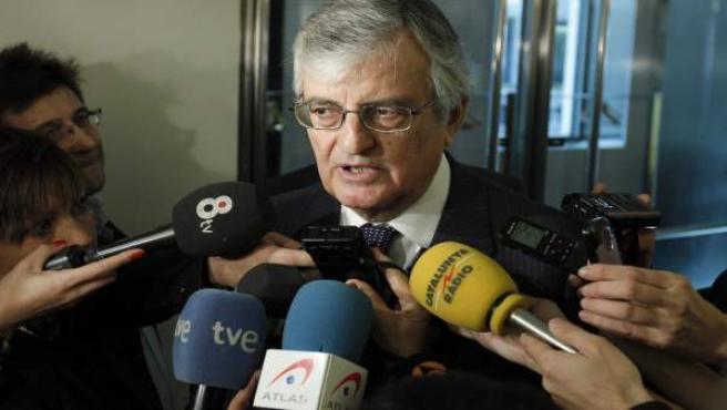 El fiscal general del Estado, Eduardo Torres-Dulce, atiende a los medios.